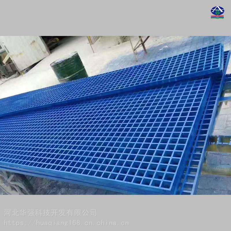云南刷车场地面网格装修效果图 洗车店的玻璃钢格栅地面排水盖板