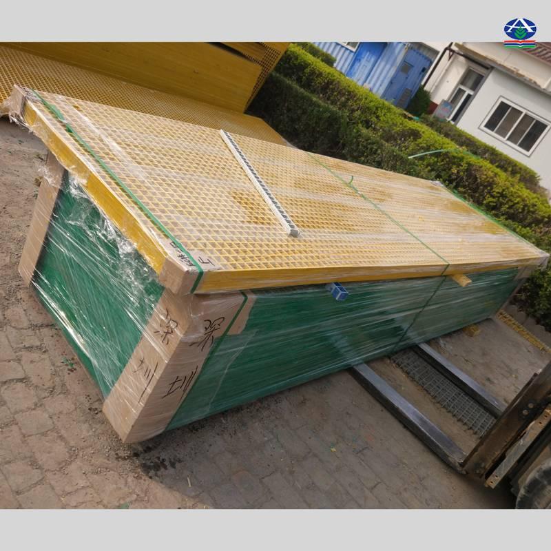 刷车场地面网格装修效果图 洗车店的玻璃钢格栅地面排水盖板