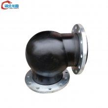 供应DN100 PN0.6铸钢法兰式橡胶软连接 排水专用