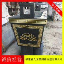 寺庙焚香石雕香炉 青石香炉 圆形香炉 香炉雕刻厂家