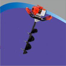 启航牌手提式汽油挖坑机 拖拉机用打坑机厂家 四冲程汽油地钻双人种植机