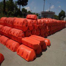 自浮式拦污浮筒 启东海面拦垃圾塑料浮筒 浮体式隔离海岸线