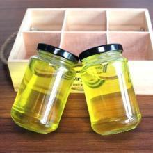 宏华制造定做玻璃酱菜瓶扁鼓200ml140g