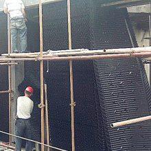 马利1220*2420mm 淋水片 冷却塔散热片 天津沁阳倾斜蜂窝填料怎么卖 河北华强