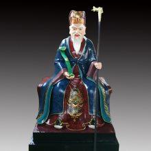 河南云峰佛像雕塑厂家订做1.6米土地公土地婆神像 福德正神 道教佛像神像 玻璃钢彩绘