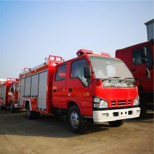 国五五十铃3.5吨水罐消防车多方位图片及配置参数