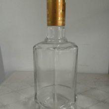 宏华供应各种透明玻璃瓶500ml白酒瓶