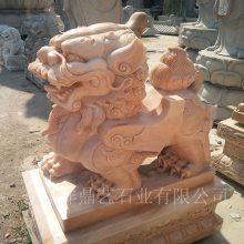 供应石材动物雕塑 山东青石貔貅 公司小区门前镇宅石雕貔貅摆件