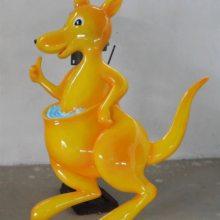 珠海供应仿真袋鼠雕塑地产楼盘树脂仿真袋鼠摆设玻璃钢仿真孔雀圆雕现货