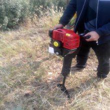 启航牌 手提式苗木断根机 大功率挖树机 带土球大直径挖树机