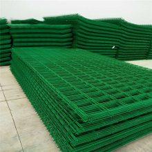 道路绿色防护网 焊接涂塑防护围栏网厂家 pvc包塑胶铁丝护栏网规格及一米价格