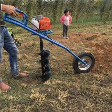 拖拉机挖坑机 富兴便携式植树挖坑机 小巧方便打孔机