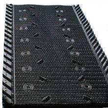 马利915mm宽冷却塔填料价格 斜穿管的黑色PVC淋水片 河北华强