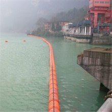 江面施工警示浮标 赣州水库拦污排浮箱 水电站拦污排供应