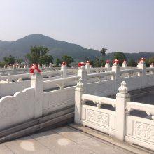 园林建筑石材栏杆 河道护坡石栏杆 石雕围栏