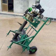 小型轻便手提式植树挖坑机 富兴大马力汽油打坑机