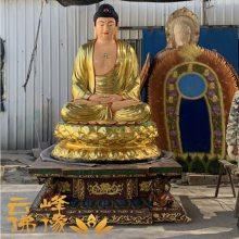 河南云峰佛像雕塑厂直销 优质极彩三宝佛 释迦摩尼佛 玻璃钢树脂寺庙摆件神像佛像