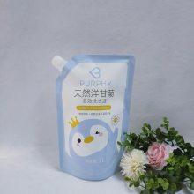 厂家定制款洗衣液袋 异型吸嘴袋 500ML-3L带吸嘴洗衣液包装袋批发/采购_价格