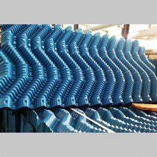 供应双鸭山S波填料 电厂水泥厂塑料片 玻璃钢冷却塔价格1000*500 河北华强