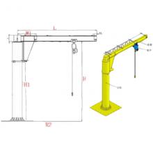 高效吊运物料装备,频繁物料调运,BZD5旋臂吊,亚重,工字钢轨道
