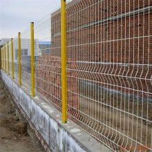 厂价批发围墙护栏网 三角折弯护栏 浸塑铁丝网围栏 万泰供应