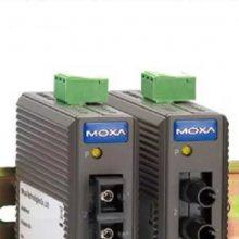 IMC-21-M-SC/ST 电口转多模光纤转换器5KM MOXA 摩莎 光电转换器