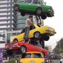 玻璃钢英式汽车雕塑售楼处房地产景观摆设树脂彩绘仿真汽车雕塑
