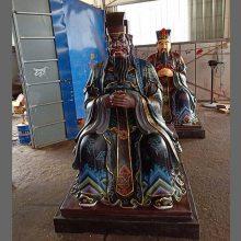 河南云峰佛像雕塑厂直销 十大阎王 阎罗王 阎王殿 玻璃钢树脂神像寺庙雕塑
