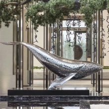 玻璃钢虎鲸雕塑树脂彩绘虎鲸雕塑广场海洋动物仿真虎鲸雕塑摆设