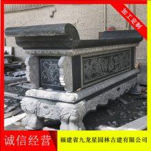 焚香石雕香炉 青石仿古香炉 圆形香炉 香炉雕刻