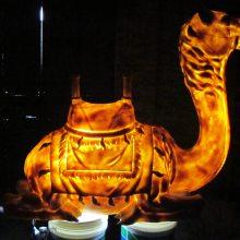 灯罩厂家人造砂岩动物雕花灯树脂镂空灯饰浙江仿砂岩骆驼装饰灯罩价格