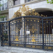 庭院门/进户门/围墙大门/别墅大门/欧式铁大门--安平优盾牌