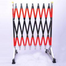 不锈钢扁管伸缩围栏1.2*2.5米派祥电力厂家直销电力伸缩安全围栏