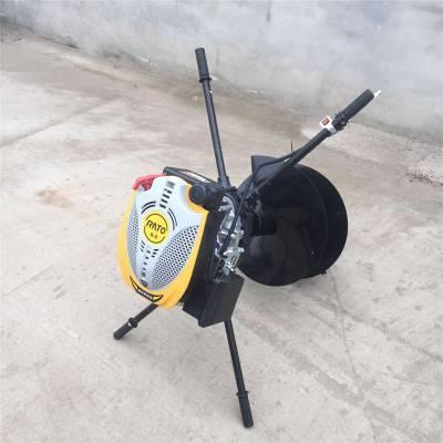 启航牌结实耐用加长杆螺旋挖坑机 工业用四冲程地钻 大功率挖坑机