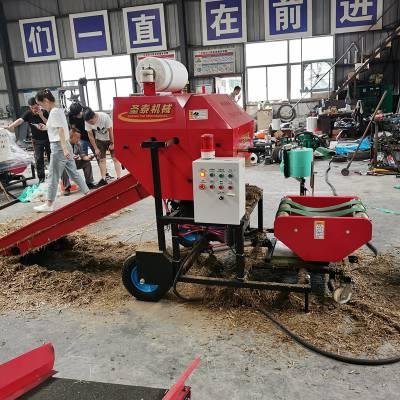 牛羊饲料青储机 圣泰牌ST5552A型电动青储饲料打包机 高品质型秸秆青储机