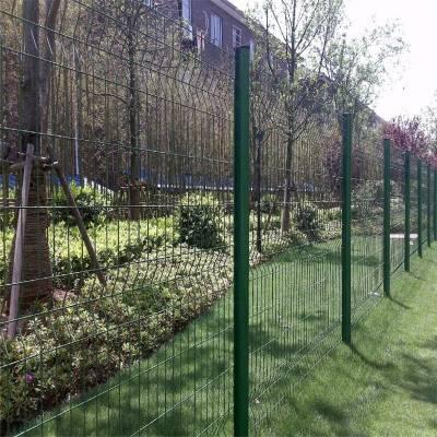 旺来桃形立柱护栏网 草坪围栏 镀锌栅栏