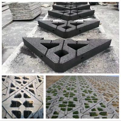 厂家直供全自动免烧砖机 路面花砖机 六角空心护坡砖 完美服务