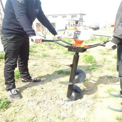 启航牌手提式地钻挖坑机 施肥打坑机 新款大功率四冲程挖坑机