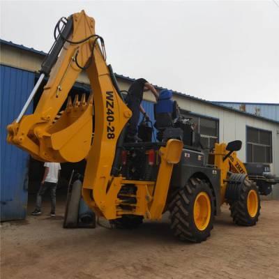 两头忙挖掘机前铲后挖,挖掘深度2米无极变速品牌中首重工